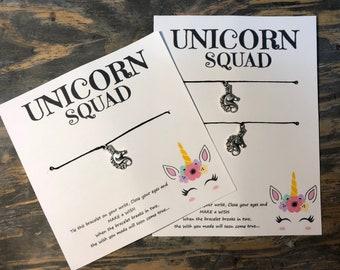Squad goals wish bracelet.Unicorn squad wish bracelet.Unicorn wish bracelet.Best friend unicorn wish bracelet.friendship bracelet