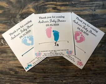 Personalized baby shower wish bracelet.Boy baby shower favors.Girl baby shower favors.pink baby shower party.Blue baby shower party.