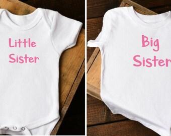 Big Sister Little Sister Shirt, Big Sister Shirt, Little Sister Shirt, Big Sister Little Sister Shirts, Big Sister Little Sister Set