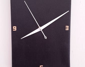black wall clock handmade wall clock home decor minimalist black clock modern