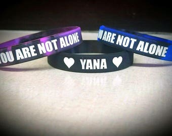 You Are Not Alone (3 Wristbands)