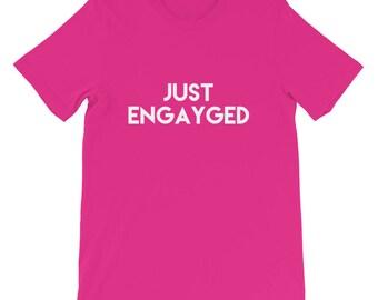 just engayged, gay marriage, gay tshirt, gay pride shirt,engaged shirt, lesbian tshirt, lgbt shirt, lesbian shirt, gay shirt, lgbt gifts