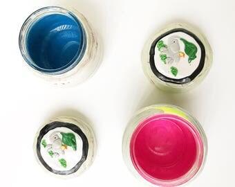 Gender Reveal Polymer Clay Jar