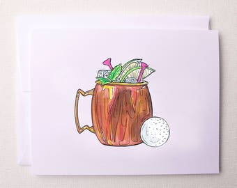Moscow Mule Golf- Notecards