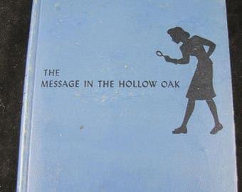 The Message In The Hollow Oak // 1935  Hardback // Nancy Drew Mystery Stories #12