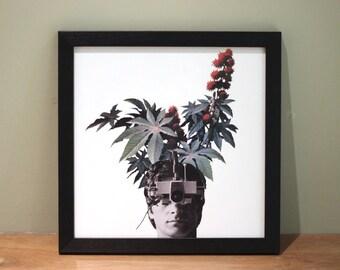 Plant Life - Digital Collage Art Print Poster