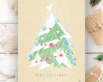 Christmas printable, Merry Christmas Wall Art, Holiday Prints, Christmas decoration, Christmas Art Prints, Holiday Decor, Holiday Printable