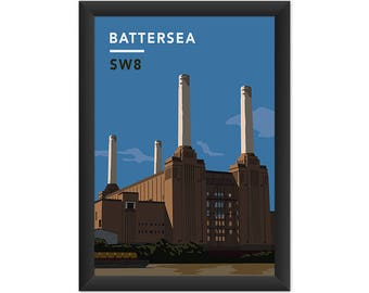 Battersea Power Station SW8 - Giclée Art Print - South London Poster