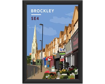 Brockley Road Parade SE4 - Giclée Art Print - South London Poster