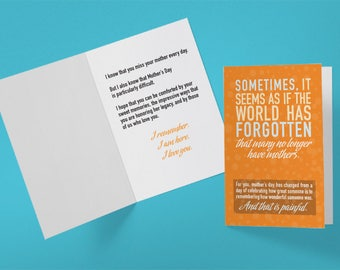 Card to someone who has lost their mother