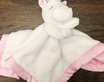 Personalized Unicorn Lovey-Security Blanket - Unicorn Lovey - Birth Stats Lovey