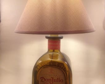 Lamp bottle Don Julio Reposado Tequila is handmade (recycled / Upcycled)