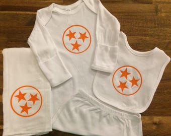 Tennessee Vols Tristar Baby Gift Set