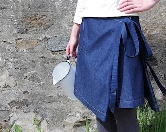 Organic denim Crofter Skirt