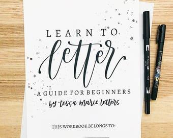 DIGITAL DOWNLOAD—Learn to Letter Workbook