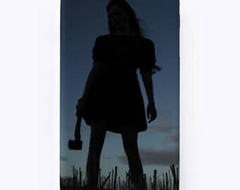Axe girl phone case