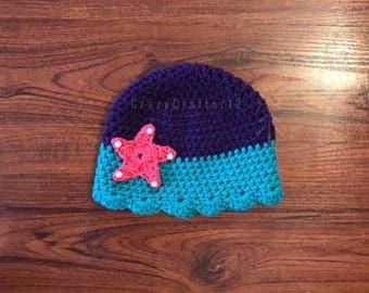 Crochet mermaid hat