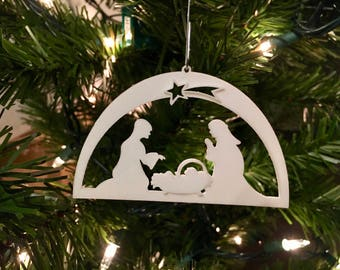 Nativity 104 Christmas Tree Ornament 3D-Printed