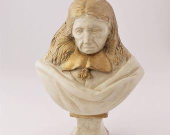 Miniature handmade bust, Dollhouse bust man, scale 1:12, Dollhouse figurine, Hand painted miniature bust, Limited edition  sculpture, Gypsum