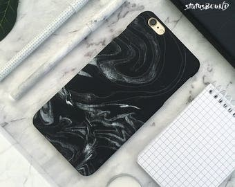 Marble Sand iPhone Case iPhone X Case iPhone 8 Case iPhone 8 Plus Case iPhone 7 Case iPhone 7 Plus Case iPhone 6S Case 6S Plus Case Black