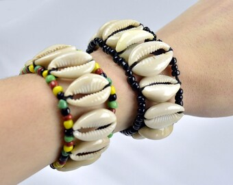 Cowrie Shell Bracelets | African Jewelry | Wristband | Cuff bracelets | African Arm Cuffs | African Wristlet | African Arm band | Bangle