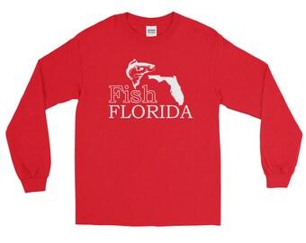 Fish Florida Fishing Long Sleeve T-shirt | Fishing Apparel