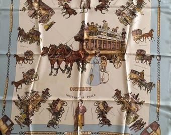 "Hermes ""Omnibus & Voitures de Place"" Silk Scarf"