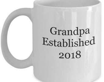 Pregnancy reveal, grandfather gift, grandpa mug, pregnancy reveal mug, grandpa to be mug, new grandpa gifts, first time grandpa
