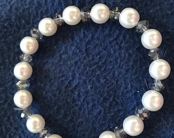 Pearl & Sparkle Stretch Bracelet