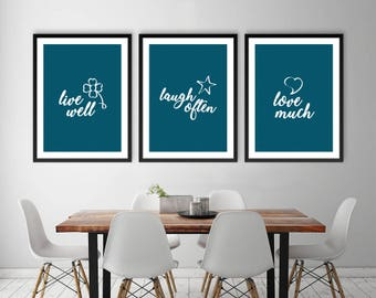 Live Laugh Love Print, Large Printable Poster, Digital Art, Printable Poster, Living Room Wall Art, Poster Art, Instant Art, Live Laugh Love