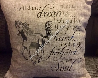 I will dance in your dreams cushion