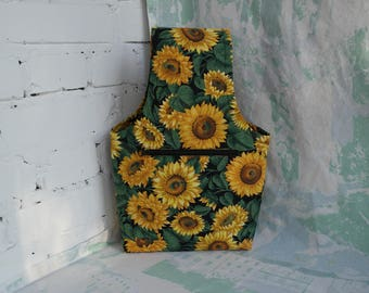 Sunflowers knitting bag Knitting bag Bag for knitting Sock project bag Crochet project bag Yarn Bag Project Bag Knitting accessories Crochet