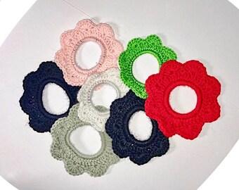 Crochet Hair Ties, Elastic Band, Ponytail, Hair Ties Bracelet, Hair ties set