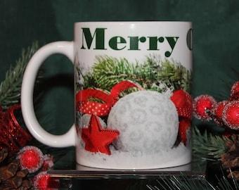 Merry Christmas With Evergreens Mug