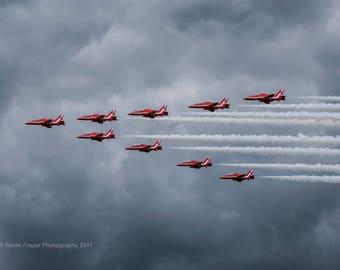 RAF Red Arrows, Farnborough Airshow 2016