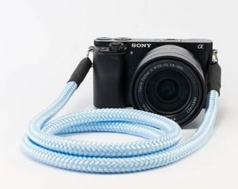 Handmade Shoulderstrap for DSLR light blue-present-accessoires-style Camerastrap-Christmaspresent for him-Christmaspresen