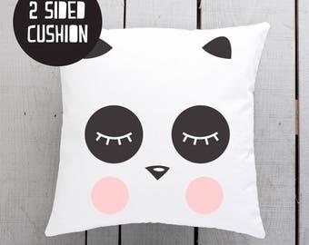 panda pillow, panda cushion, panda scandi
