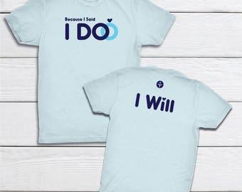 Christian T-shirt   Faith Apparel   Womens Tee   Wedding Gift