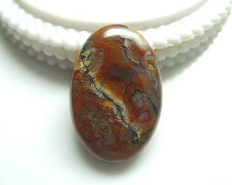 Crazy Lace Agate Oval Cabochon, 1 pec, Size- 32x21x6 MM, Natural Crazy Lace Agate , AAA,Quality  Loose Gemstone, Smooth Cabochons.