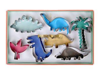 7 Dinky Dinosaur Cookie Cutters , Dinosaur Shape Cutters , Cake Decoration Cutters , Dinosaur Party