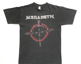 "1997 Megadeth ""Cryptic Writings"" vintage band shirt-XL-Anthrax, Metallica, Slayer, Black Sabbath, Ozzy Osbourne, Pantera, Sepultura, Exodus"