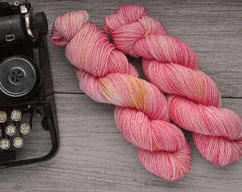 Only the Early Bird - Worsted weight - Hand Dyed Yarn - Superwash Merino - Hand Painted - Variegated Tonal