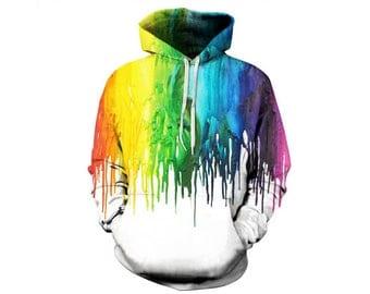 Paint Splat, Paint Hoodie, Painted Sweatshirt, Painting Clothes, Hoodie Art, Hoodie Pattern, Pattern Hoodie, Hoodie, 3d Hoodie - Style 11