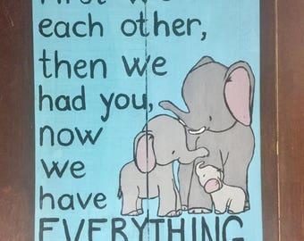 Nursery elephant Pallet wood sign