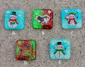 Resin Christmas Charms || Keychain || Ornament || Cute || Perfect Gift ||