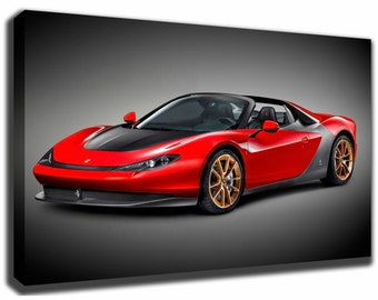 Delicieux FERRARI SERGIO Canvas/Poster Wall Art Pin Up HD Gallery Wrap Room Decor Home  Decor