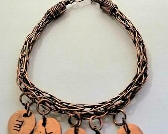 Women's Personalized Viking Knit Bracelet