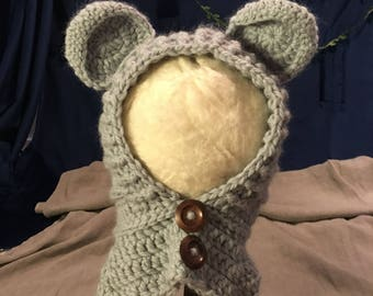 100% Baby Alpaca Crochet Animal Hat