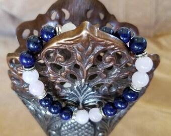 Lapis Lazuli with Rose Quartz Gemstones