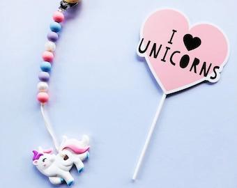 Unicorn Teething Clip / Unicorn Teether / Teether/ Teething Chain